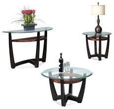 glass coffee table set of 3 round coffee table sets stagebull com