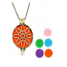 necklace pendants charms images Vintage aromatherapy photo frame lockets necklace pendant charms jpg