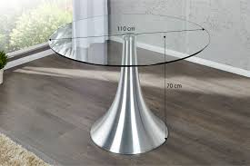 Table Verre Pied Central by Table Ronde Bardo Design Par Son Large Pied Imposant Et Son Dessu