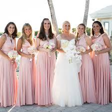 blush maxi dress 2016 summer blush pink multiway bridesmaids convertible dress