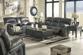 Steel Living Room Furniture Dunwell Steel Power Reclining Living Room Set From
