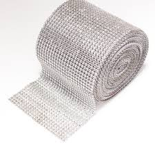 bling ribbon mesh ribbon trim bling on a roll