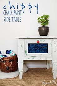 Chalk Paint Side Table Chippy Chalk Paint Side Table Maison De Pax