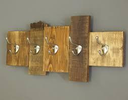wooden coat rack reclaimed wood cabin decor wall mounted rustic