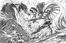 thor vs hulk completed pencils by dfbovey on deviantart