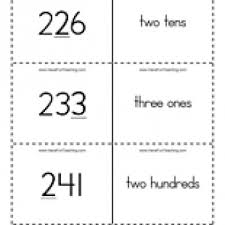 place value flash cards ones tens hundreds have fun teaching