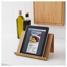 repose livre cuisine rimforsa support tablette bambou 26x17 cm ikea