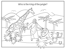 preschool jungle coloring pages bible coloring page who is the king of the jungle