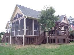 Gable Patio Designs Architecture Interesting Deck Design With Wood Railing And Gable