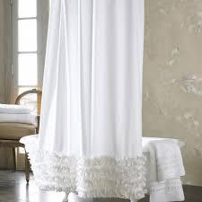 Gypsy Ruffled Shower Curtain White Shower Curtain