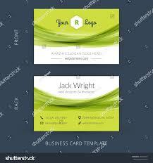 Flat Design Business Card Vector Modern Creative Business Card Template Stock Vector