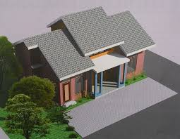 small house design with eye catching color game tiny house design