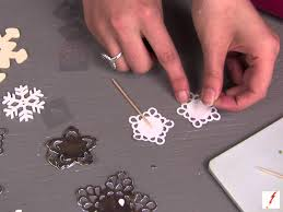 snowflake cake topper how to make a snowflake cupcake topper