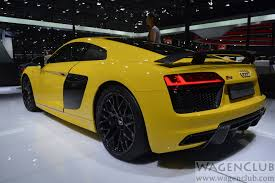 Audi R8 Yellow 2016 - 2016 audi r8 v10 plus launched auto expo live wagenclub