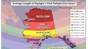 Alaska On A Map by How Alaskans Cope With Two Months Of All Day Daylight The