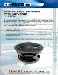 Decor And Floor by Vortex Swirl Diffuser With Actuator Camino Modular Systems Inc