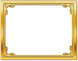 certificate frame frame gold png printable certificate of achievement