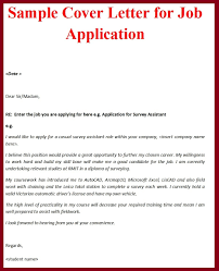sample cover letter for job opening simple cover letter design