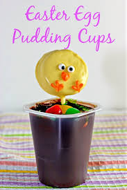easter stuff easter egg pudding cup a desert apartment