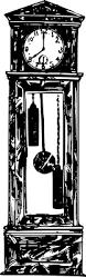 clipart grandfather clock