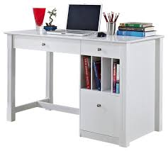 incredible white wood computer desk stunning interior design style with walker edison deluxe solid wood desk with hutch in white