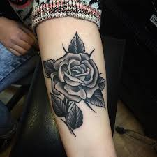 21 best black rose arm tattoos for men under images on pinterest