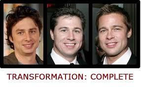 Zach Braff Meme - transformation complete zach braff to brad pitt weknowmemes