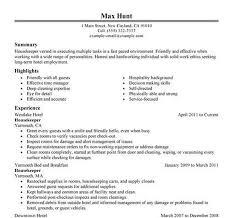Housekeeper Resume Sample Download Housekeeping Resume Haadyaooverbayresort Com