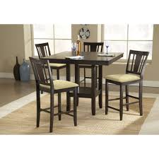 Unfinished Bistro Table Solid Wood Pub Table And Chairs Unfinished Bar Height Dining Black