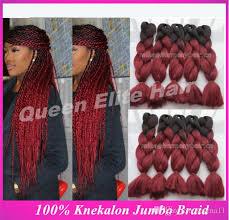 ombre kanekalon braiding hair 2018 stock factory wholesale cheap price 20in synthetic jumbo