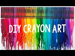 diy crayon art teen craft youtube
