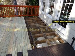 Flashing Patio Door by How To Replace Wood Deck Boards