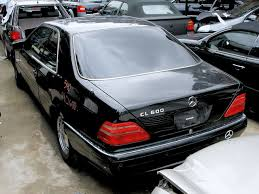 1999 black mercedes 1999 mercedes cl600 w140 parts car stock 005140