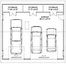 36x32 3 car garage 36x32g1a 1 152 sq ft excellent floor plans