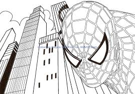 coloring pages photo spider man color coloring images