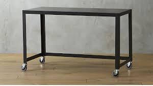 Indie Desk Go Cart Carbon Rolling Desk Cb2