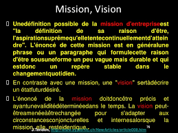Entreprise 2 0 Mission Vision Valeurs Stratégiue Et Gestion De Pr Mission Bureau De Controle
