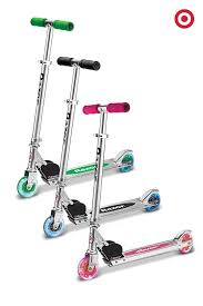 razor kick scooter light up wheels these classic a model razor scooters have wheels that light up as