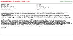 entry level position cover letter entry level environmental scientist cover letters