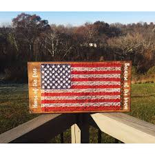 Wooden American Flag Wall Hanging American Flag String Art American Flag American Flag Wall