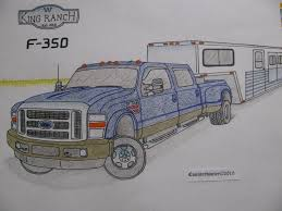 ford dually truck with trailer drawing how to draw a truck