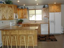 Pine Cabinets Kitchen by Natural Kitchen Cabinetry Set With Handmade Knotty Alder Cabinets