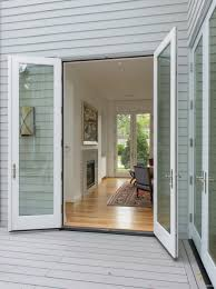 home design exterior front french doors window treatments