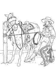 cowboy coloring pages free print coloringstar