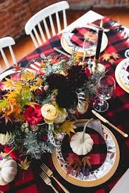 mixed patterns and florals for a thanksgiving tabletop coco