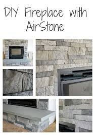 diy stone fireplace with airstone airstone dark colors and diy