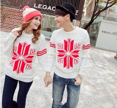 valentines day gift lovers couples matching sweaters clothes white