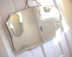 Beveled Bathroom Mirror by Antique Beveled Wall Mirror Vintage Shabby By Purpleflowerfairy