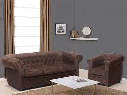 canap chesterfield microfibre canapé 3 places et fauteuil microfibre vieilli chesterfield