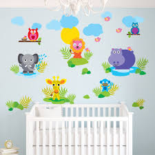 baby jungle animal wall decals home reusable wall decals wall